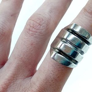 Vintage Jewelry - Vintage Taxco Mexico sterling silver ring